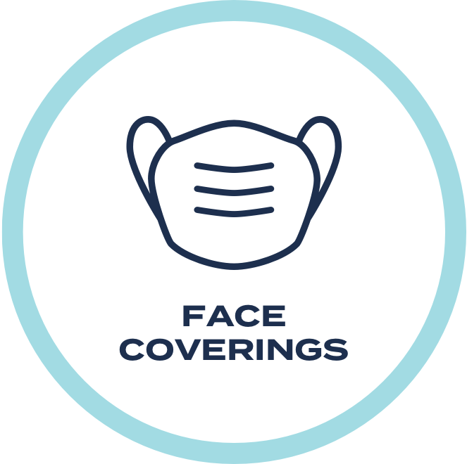 Please wear a face covering at all times. Our staff and event venue staff will be able to provide disposable masks if needed.